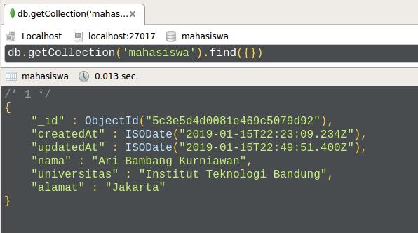 Gambar Hasil Testing Update Data