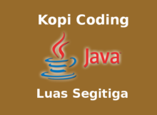 Program Menghitung Luas Segitiga Bahasa Java