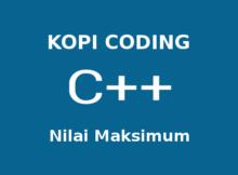 Program Mencari Nilai Maksimum Array Bahasa C++
