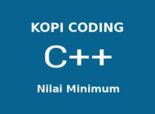 Program Mencari Nilai Minimum Array C++