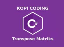 Program Transpose Matriks Di Bahasa C#