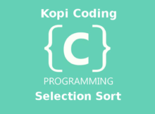 Program Algoritma Selection Sort Bahasa C