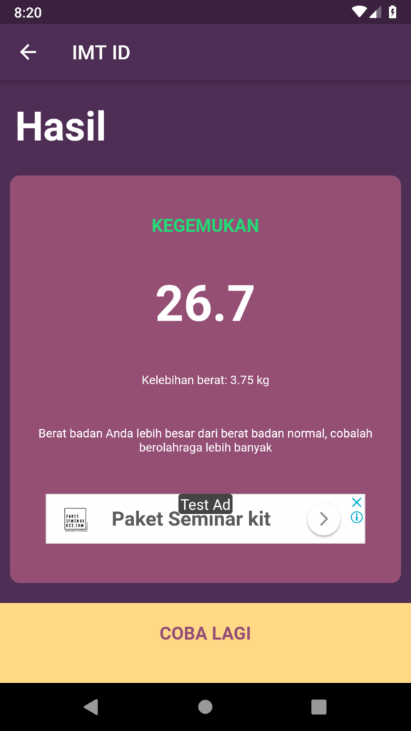 IMT ID Aplikasi Kalkulator BMI Indonesia