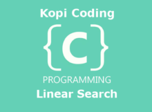 Program Algoritma Linear Search Bahasa C