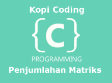 Program Penjumlahan Matriks Bahasa C