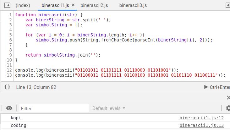 3 Cara Algoritma Konversi Biner Ke ASCII Dengan Javascript - Kopi ...