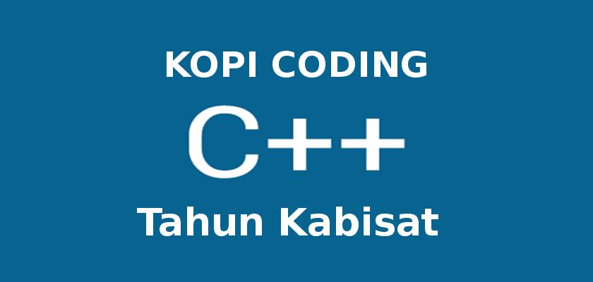 Program Tahun Kabisat di C++