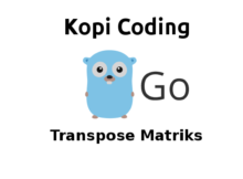 Program Transpose Matriks di Go (Golang)