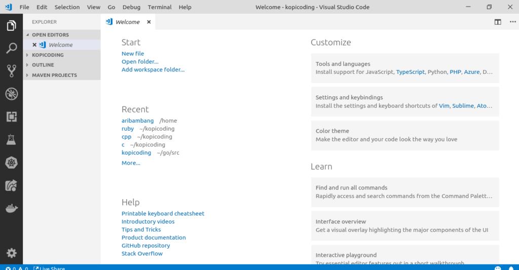 Gambar Tampilan Visual Studio Code