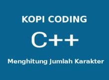 Program Menghitung Jumlah Karakter C++