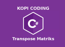 Program Transpose Matriks Di Bahasa C#